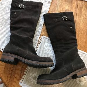 Merona suede leather boots
